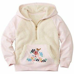 Hanna Andersson Embroidered Sherpa Hoodie 140
